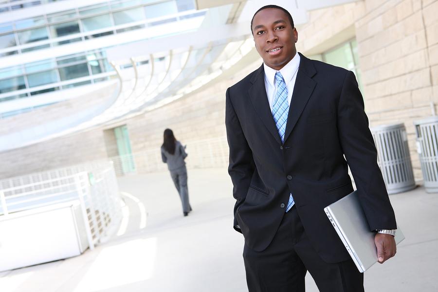 business man black