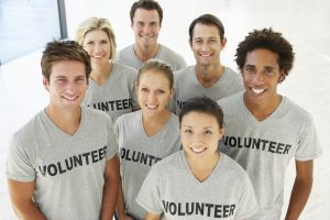 group of volunteers