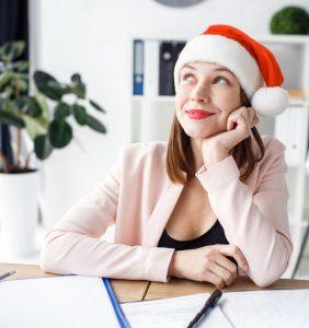 juliebusiness woman santa hat