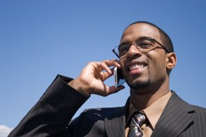 african american man on phone