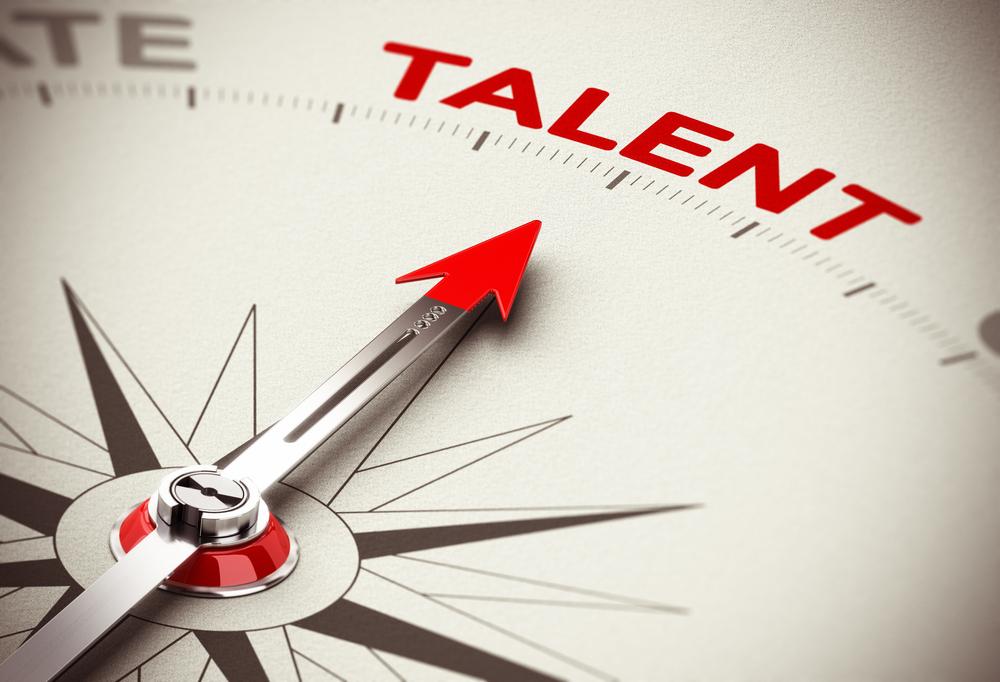 talent with arrow